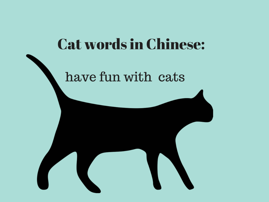 In Chinese, there are cats in a bunch of words!