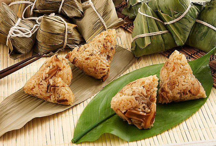 粽子or Sticky Rice balls are a traditional food to eat during the Dragon Boat Festival