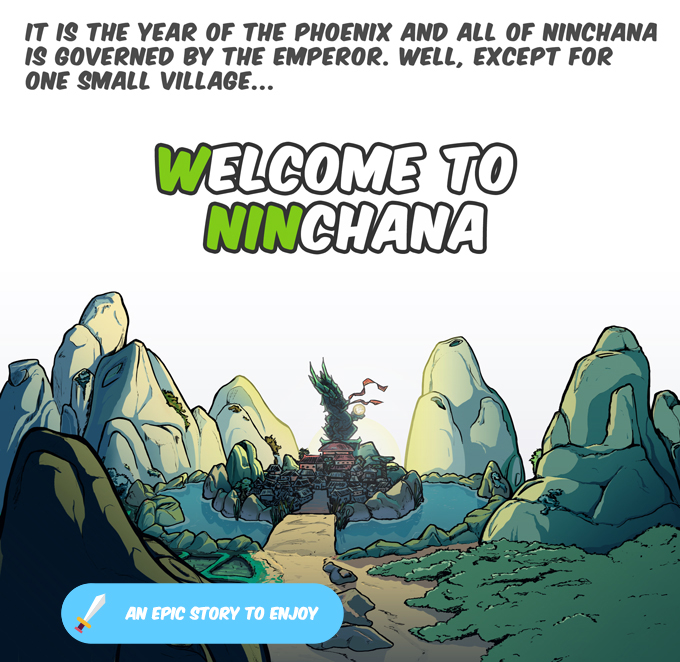 Learning in Ninchanese takes place in a story, which engages learners