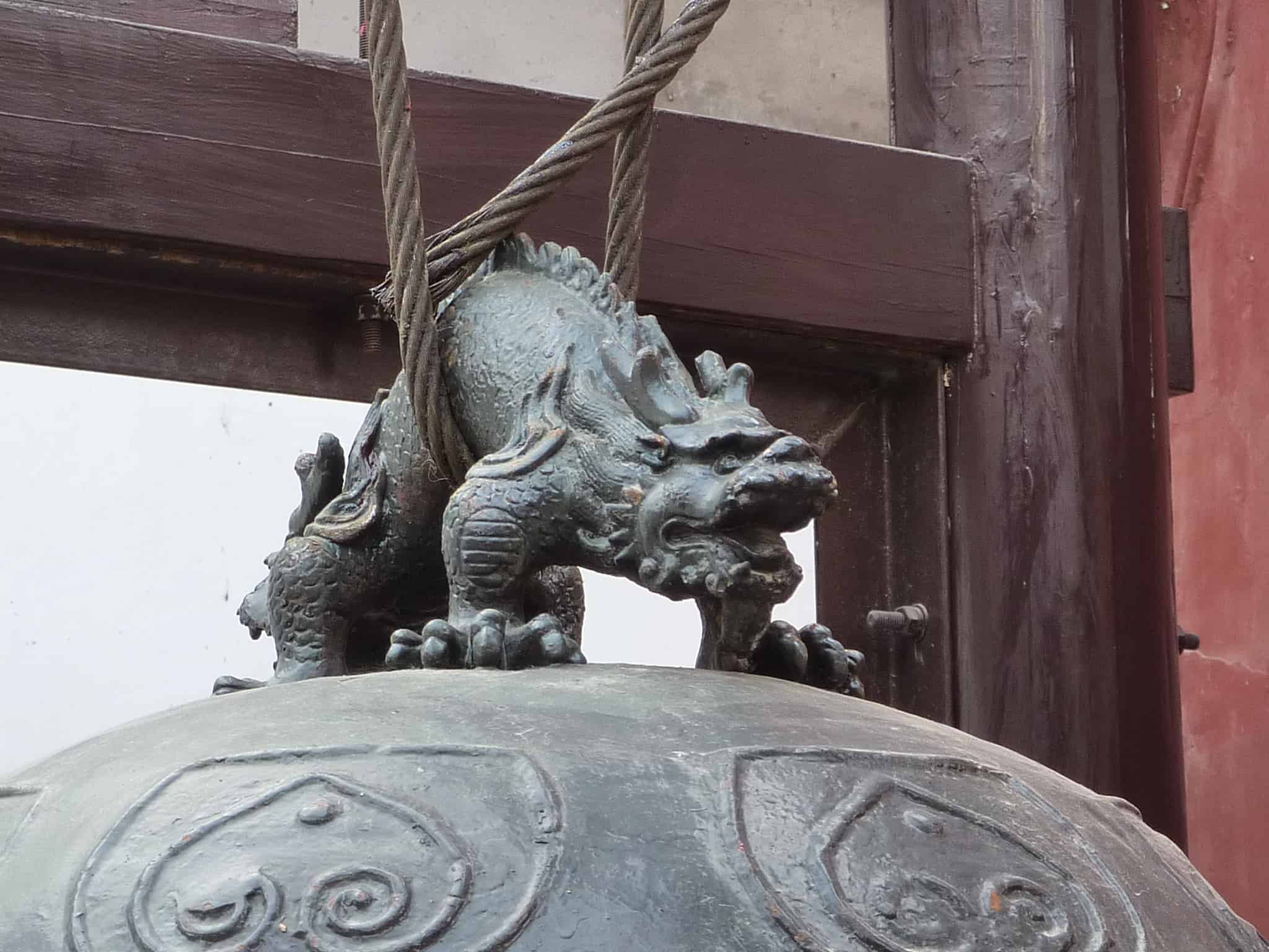 Chinese dragon - bell handle