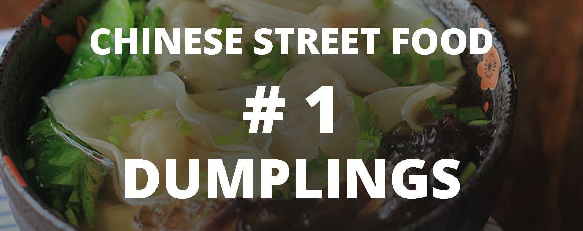 Chinese street food: dumplings
