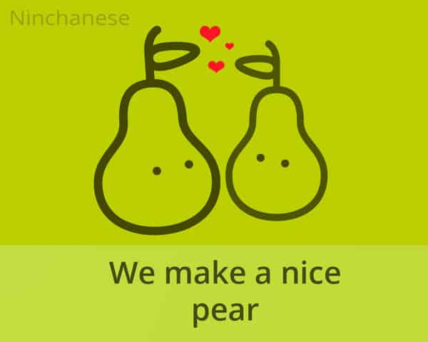 sharing a pear - Chinese customs