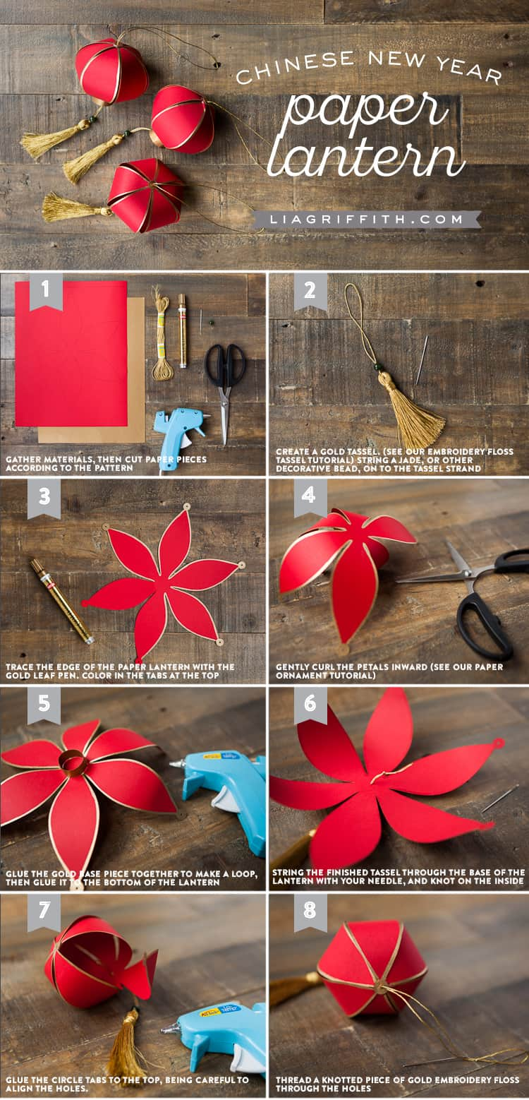 Chinese lantern Tutorial to create your own lantern
