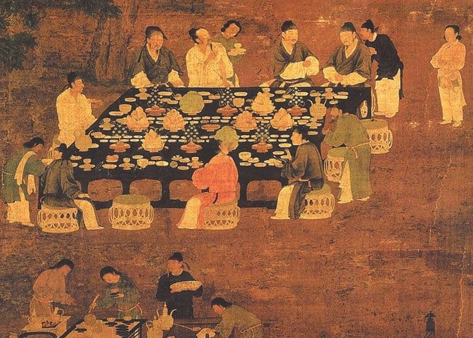 Chinese inventions: restaurant menu