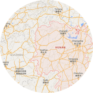 A map of Xiang, one of the 7 main dialect groups of the Chinese language