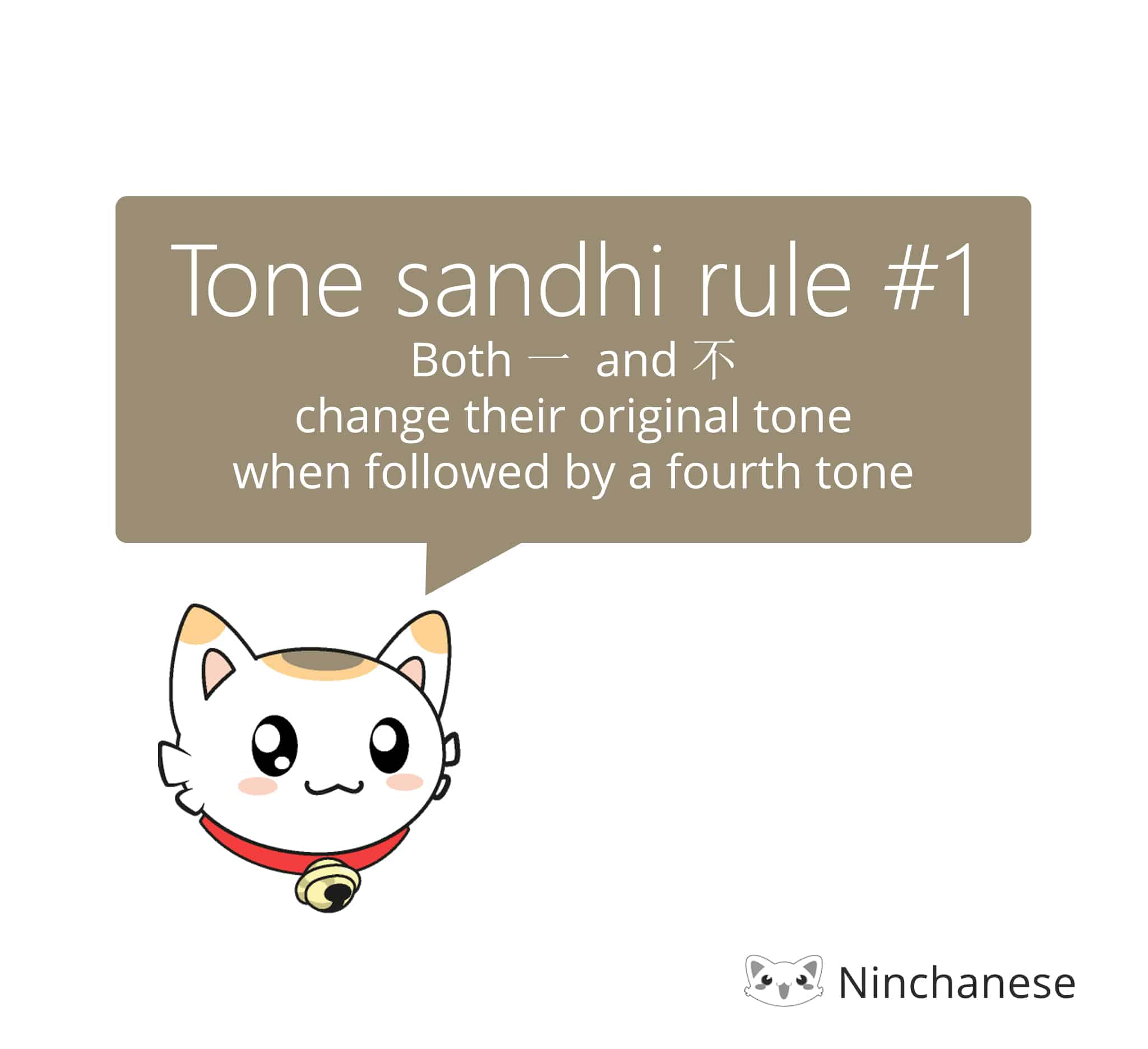 tone sandhi rules for the Chinese characters 不 and 一