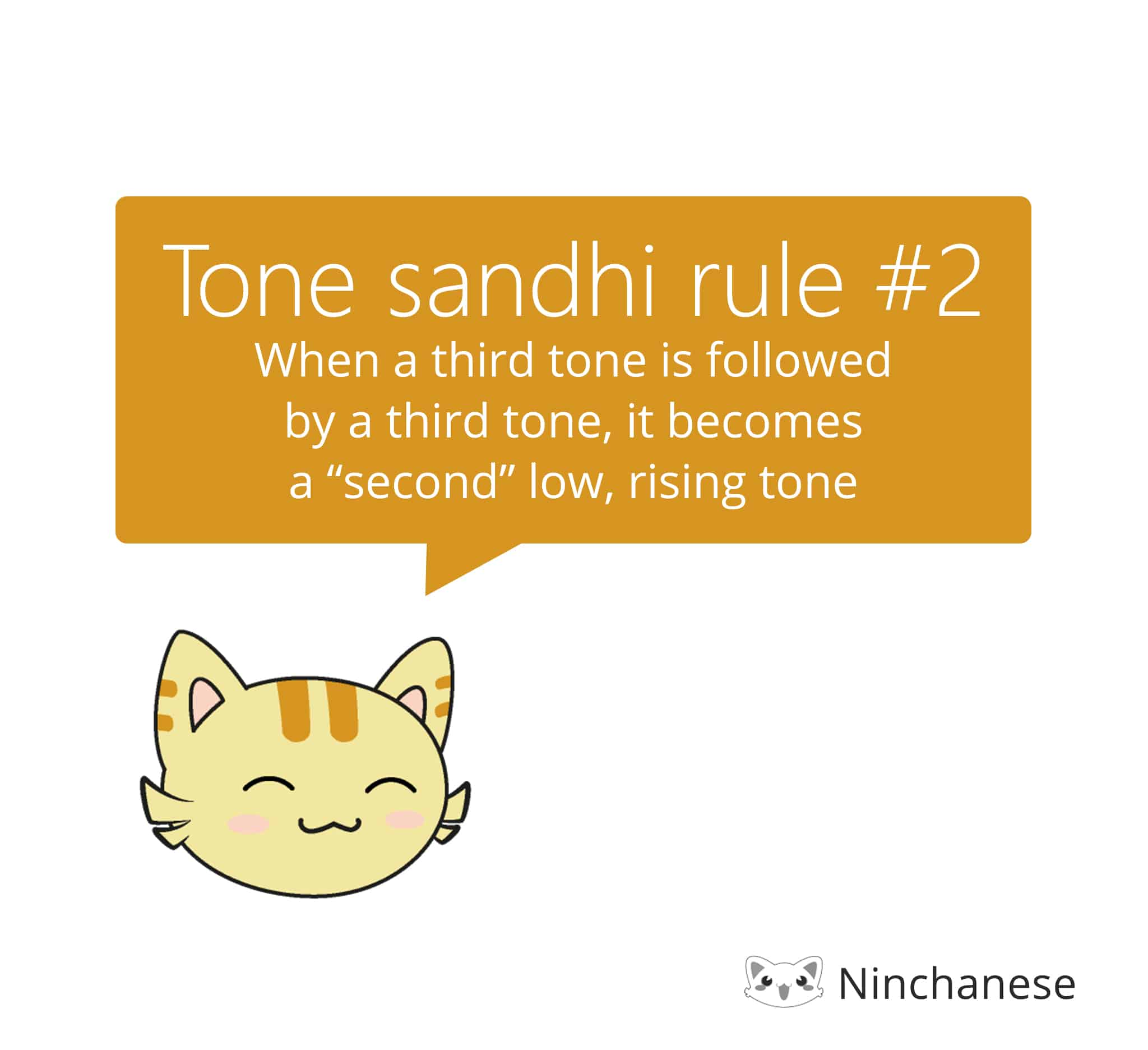 tone sandhi rule for two third tones in a row in mandarin