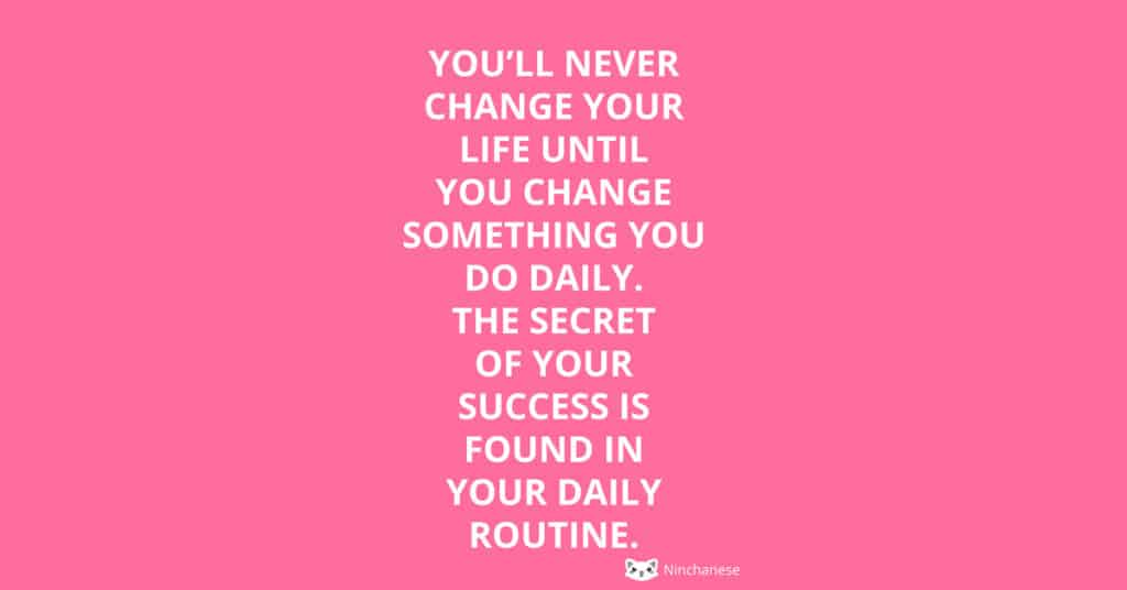 daily routine success
