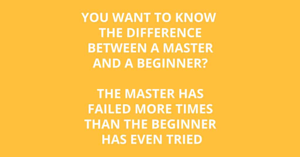 Difference master and beginner