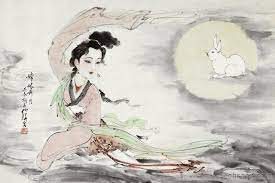 Chang'e and the immortal rabbit, for the Moon festival